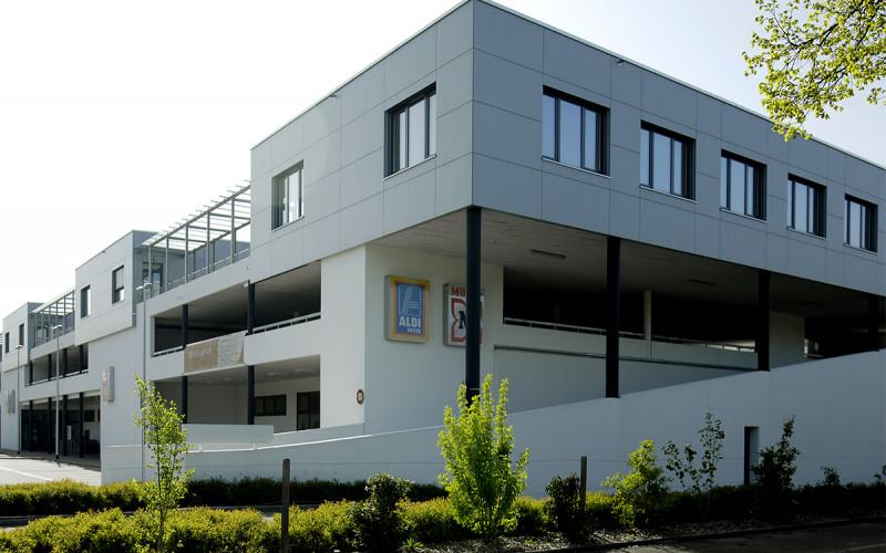 Neubau Einkaufszentrums mit Verwaltung Allschwil